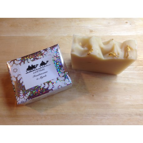 Christmas soap - 24K Gold, Frankincense and Myrrh soap